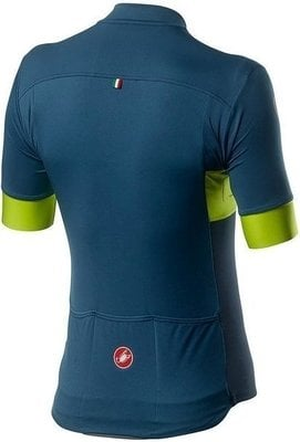 Castelli Prologo VI Mens Jersey Light Steel Blue/Chartreuse/Dark Steel Blue M