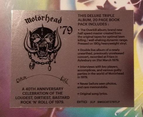 Motörhead Overkill (3 LP)