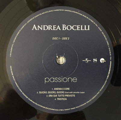 Andrea Bocelli Passione Remastered (2 LP)
