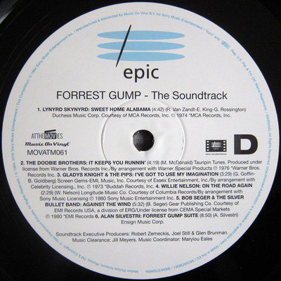 Forrest Gump Original Movie Soundtrack (2 LP)