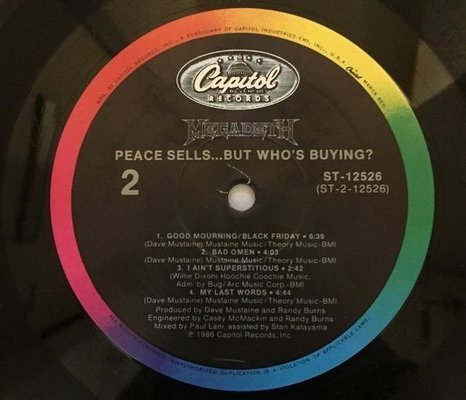 Megadeth Peace Sells..But Who's Buying (Vinyl LP)
