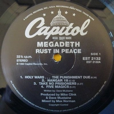 Megadeth Rust In Peace (Vinyl LP Reissue)