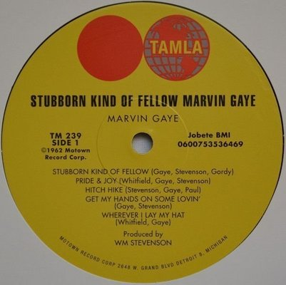 Marvin Gaye That Stubborn Kinda' Fellow (Vinyl LP)