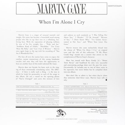 Marvin Gaye When I'm Alone I Cry (Vinyl LP)