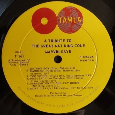 Marvin Gaye A Tribute To The Great Nat (Vinyl LP)