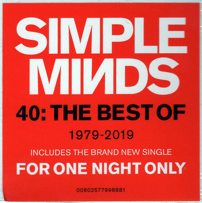 Simple Minds Forty: The Best Of Simple Minds 1979 - 2019 (2 LP)