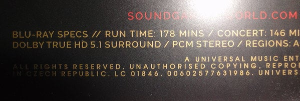 Soundgarden Live At The Artists Den (4 LP + 2 CD + Blu-ray Super Deluxe Edition)