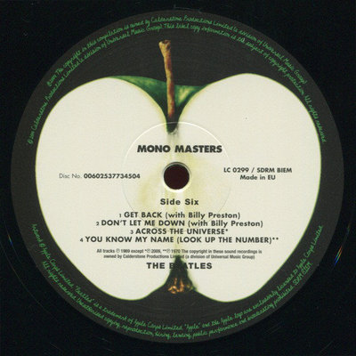The Beatles Mono Masters (3 LP)