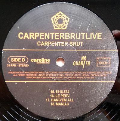 Carpenter Brut Carpenterbrutlive (2 LP)