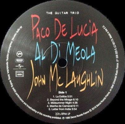 Paco de Lucía Guitar Trio (Vinyl LP)