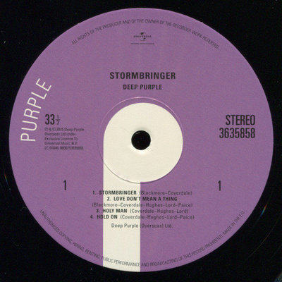 Deep Purple Stormbringer (Vinyl LP)