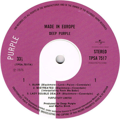 Deep Purple Made In Europe (Vinyl LP)