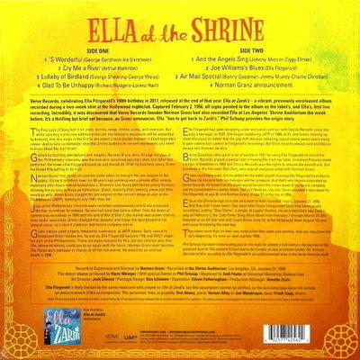 Ella Fitzgerald Ella At The Shrine (Vinyl LP)