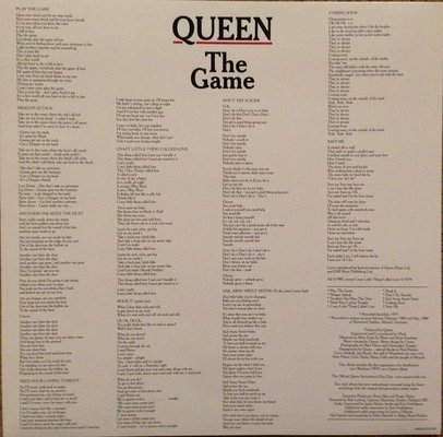 Queen The Game (Vinyl LP)