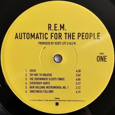 R.E.M. Automatic For The People (Vinyl LP)
