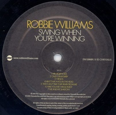 Robbie Williams Swing When You Are Win (Vinyl LP)