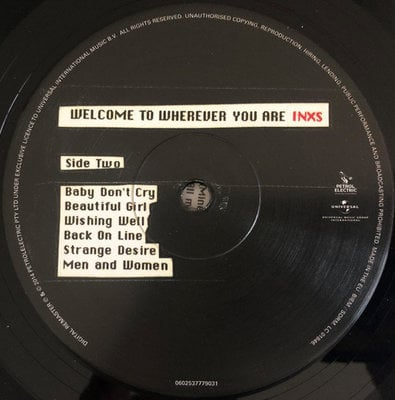 INXS Welcome To Wherever You Are (Vinyl LP)