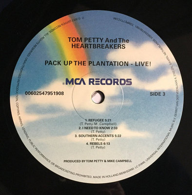 Tom Petty Pack Up The Plantation: Live (2 LP)