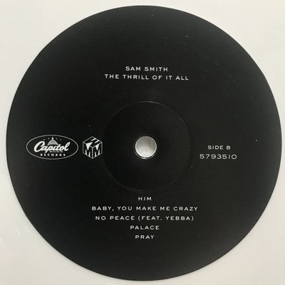 Sam Smith The Thrill Of It All (White Coloured Vinyl LP)