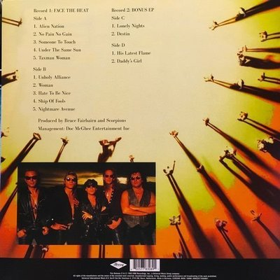 Scorpions Face The Heat (2 LP)