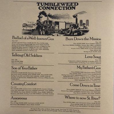 Elton John Tumbleweed Connection (Vinyl LP)