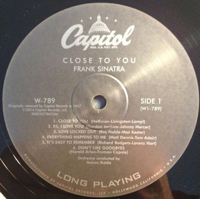 Frank Sinatra Close To You (Vinyl LP)