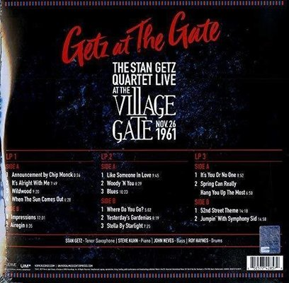 Stan Getz Getz At The Gate (3 LP)