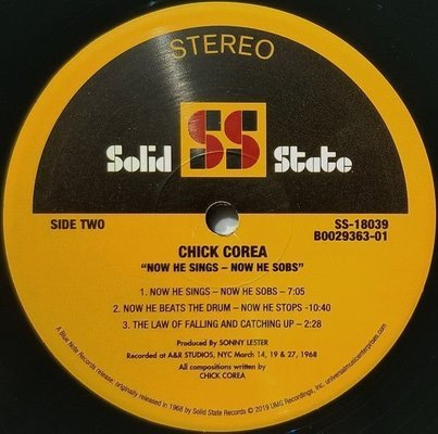 Chick Corea Now He Sings, Now He Sobs (Vinyl LP)