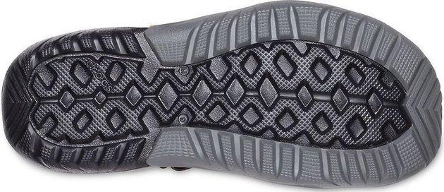 Crocs Men's Swiftwater Mesh Deck Sandal Navy/Tangerine 45-46