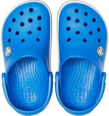Crocs Kids' Crocband Clog Bright Cobalt/Charcoal 19-20