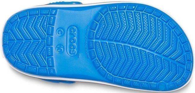 Crocs Kids' Crocband Clog Bright Cobalt/Charcoal 22-23