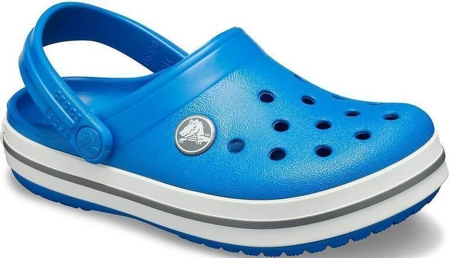 Crocs Kids' Crocband Clog Bright Cobalt/Charcoal 30-31