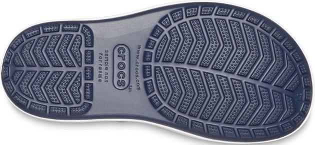 Crocs Kids' Crocband Rain Boot Navy/Bright Cobalt 29-30