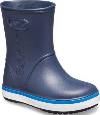 Crocs Kids' Crocband Rain Boot Navy/Bright Cobalt 30-31