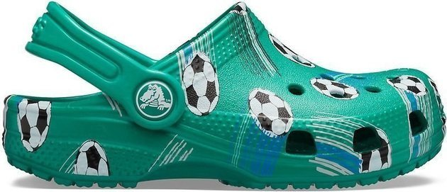 Crocs Preschool Classic Sport Ball Clog Deep Green 22-23