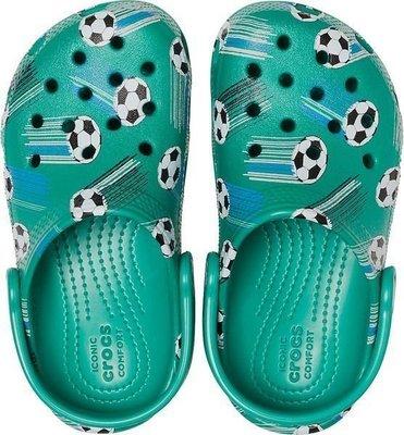 Crocs Preschool Classic Sport Ball Clog Deep Green 27-28