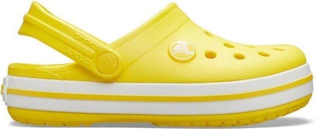 Crocs Kids' Crocband Clog Lemon 19-20