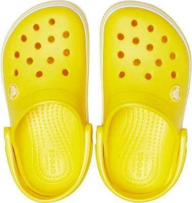 Crocs Kids' Crocband Clog Lemon 30-31