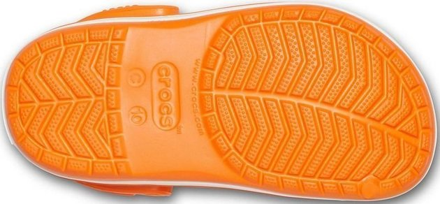 Crocs Kids' Crocband Clog Orange 23-24