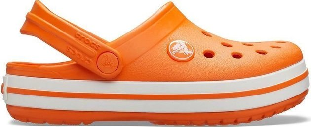 Crocs Kids' Crocband Clog Orange 28-29