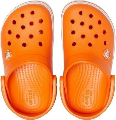 Crocs Kids' Crocband Clog Orange 29-30