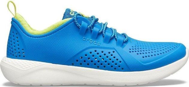 Crocs Kids' LiteRide Pacer Bright Cobalt/Citrus 32-33