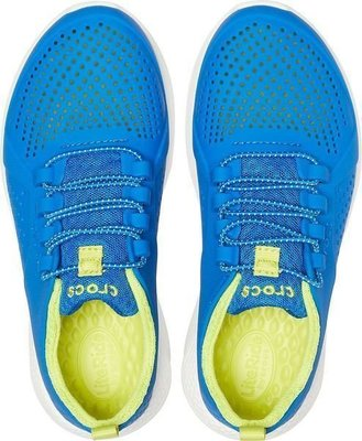 Crocs Kids' LiteRide Pacer Bright Cobalt/Citrus 34-35