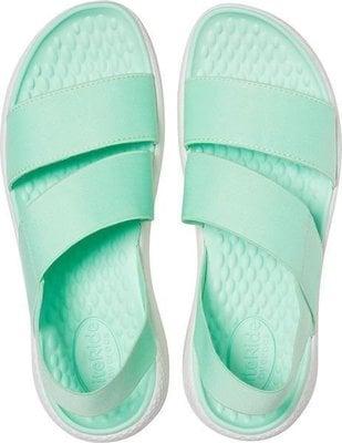 Crocs Women's LiteRide Stretch Sandal Neo Mint/Almost White 37-38