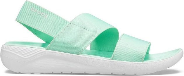 Crocs Women's LiteRide Stretch Sandal Neo Mint/Almost White 42-43