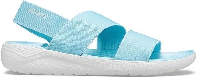 Crocs Women's LiteRide Stretch Sandal Ice Blue/Almost White 41-42