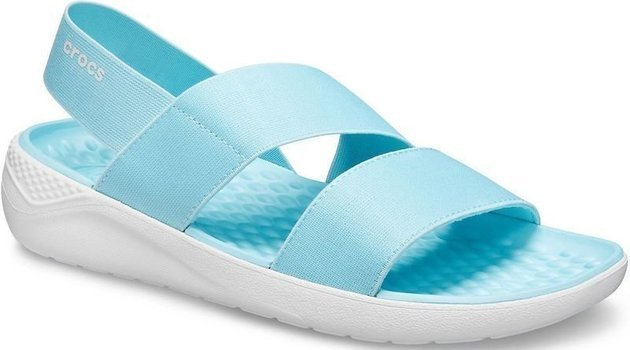 Crocs Women's LiteRide Stretch Sandal Ice Blue/Almost White 42-43