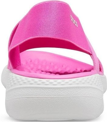 Crocs Women's LiteRide Stretch Sandal Electric Pink/Almost White 34-35
