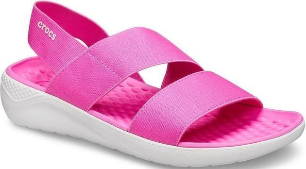 Crocs Women's LiteRide Stretch Sandal Electric Pink/Almost White 42-43