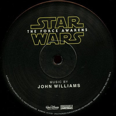 Star Wars The Force Awakens OST (2 LP) Audiophile Quality